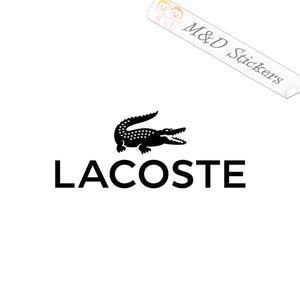 2x Lacoste Logo Vinyl Decal Sticker Different colors & size for Cars/Bikes/Windows