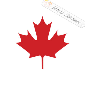 2x Maple Leaf Vinyl Decal Sticker Different colors & size for Cars/Bikes/Windows