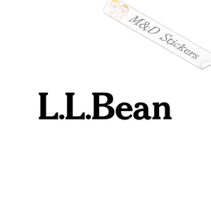 2x LL Bean Logo Vinyl Decal Sticker Different colors & size for Cars/Bikes/Windows
