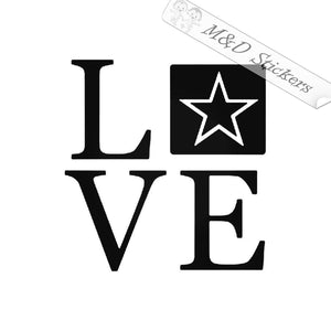 2x US Army Love Logo Vinyl Decal Sticker Different colors & size for Cars/Bikes/Windows