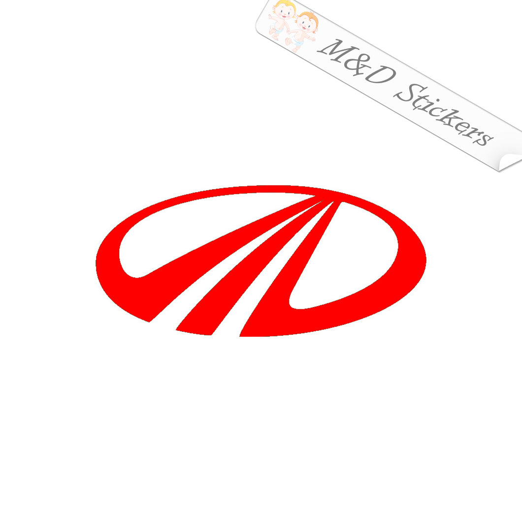 2x Mahindra Logo Decal Sticker Different colors & size for Cars/Bikes/Windows