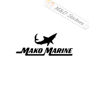 2x Mako Marine Boats Logo Vinyl Decal Sticker Different colors & size for Cars/Bikes/Windows