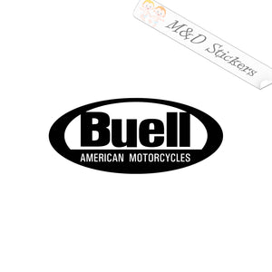 2x Buell Logo Vinyl Decal Sticker Different colors & size for Cars/Bikes/Windows