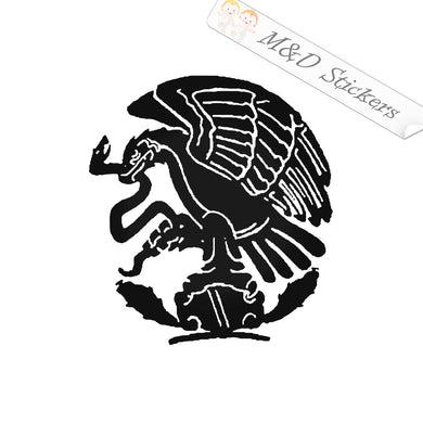 2x Mexican Flag eagle Vinyl Decal Sticker Different colors & size for Cars/Bikes/Windows