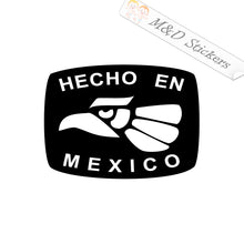 2x Mexican eagle Hecho en Mexico Vinyl Decal Sticker Different colors & size for Cars/Bikes/Windows