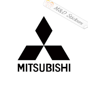 2x Mitsubishi Logo Vinyl Decal Sticker Different colors & size for Cars/Bikes/Windows
