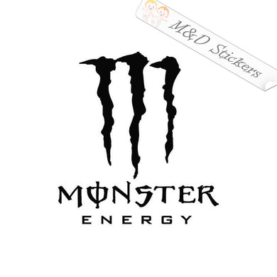 2x Monster Energy Logo Vinyl Decal Sticker Different colors & size for Cars/Bikes/Windows