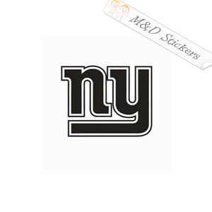2x New York Giants Vinyl Decal Sticker Different colors & size for Cars/Bikes/Windows