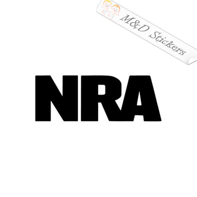2x NRA - National Rifle Association Vinyl Decal Sticker Different colors & size for Cars/Bikes/Windows