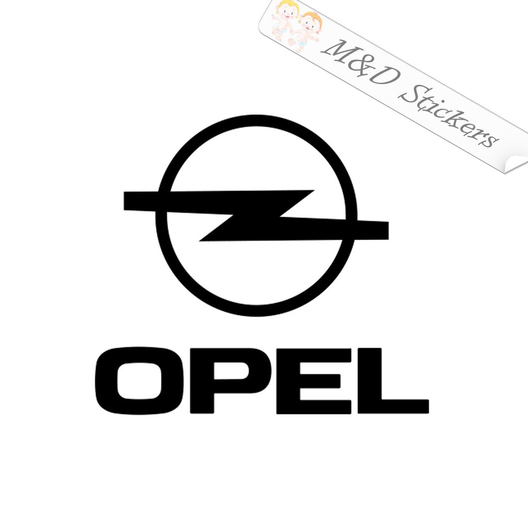 2x Opel Logo Vinyl Decal Sticker Different colors & size for Cars/Bikes/Windows