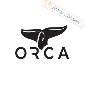2x Orca Logo Vinyl Decal Sticker Different colors & size for Cars/Bikes/Windows