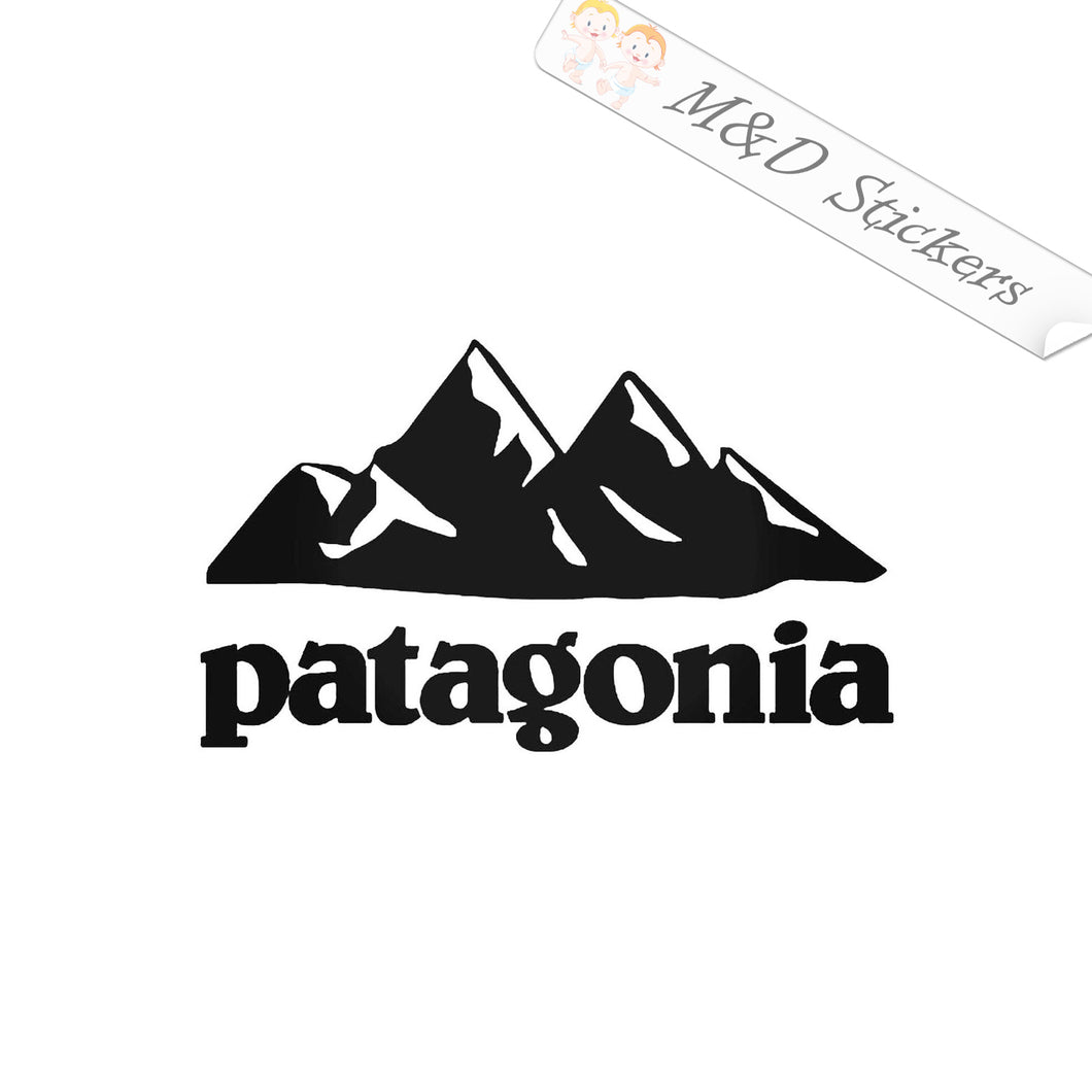 2x Patagonia Logo Vinyl Decal Sticker Different colors & size for Cars/Bikes/Windows