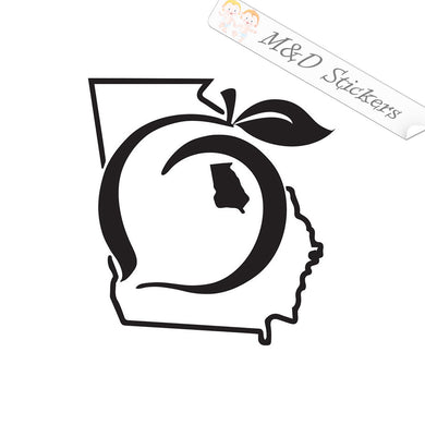 2x Georgia Peach State Borders Vinyl Decal Sticker Different colors & size for Cars/Bikes/Windows