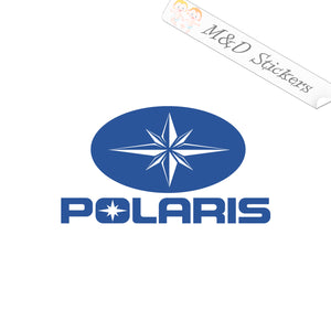 2x Polaris Logo Vinyl Decal Sticker Different colors & size for Cars/Bikes/Windows