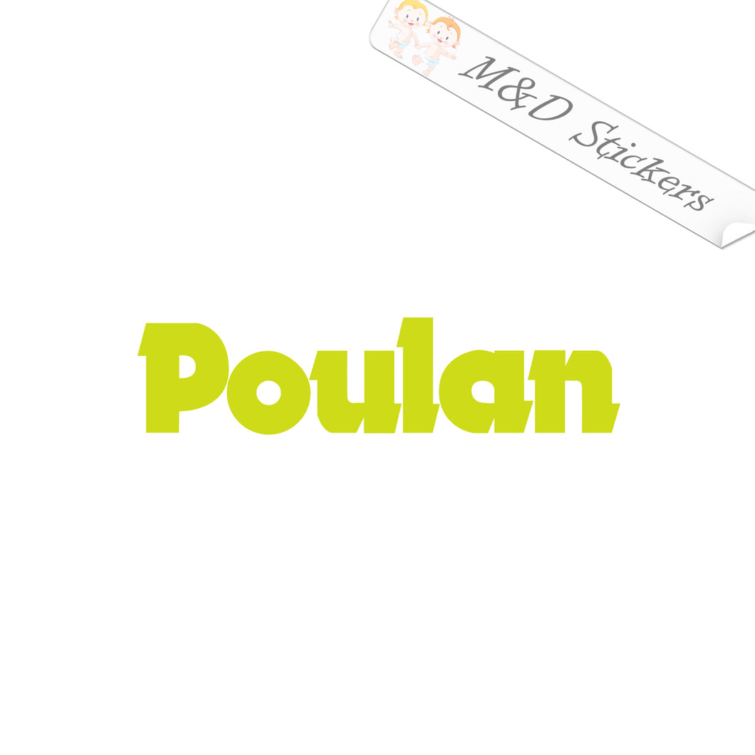 2x Poulan Logo Vinyl Decal Sticker Different colors & size for Cars/Bikes/Windows