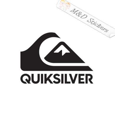 2x Quicksilver Logo Vinyl Decal Sticker Different colors & size for Cars/Bikes/Windows