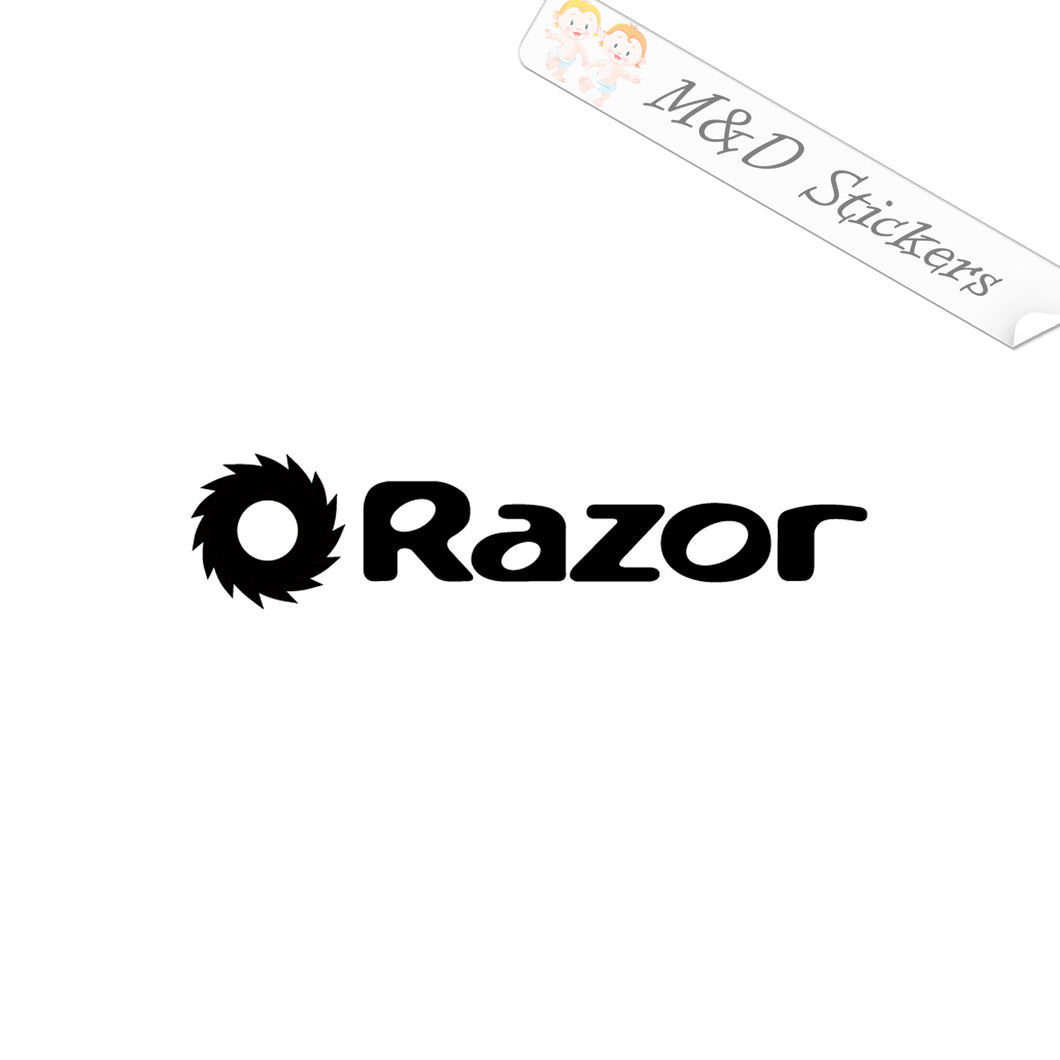 2x Razor Logo Vinyl Decal Sticker Different colors & size for Cars/Bikes/Windows