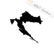 2x Croatia country shape Vinyl Decal Sticker Different colors & size for Cars/Bikes/Windows
