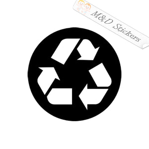 2x Recycle sign Vinyl Decal Sticker Different colors & size for Cars/Bikes/Windows