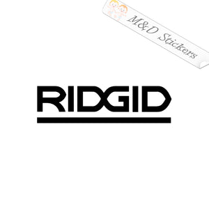 2x Ridgid Logo Vinyl Decal Sticker Different colors & size for Cars/Bikes/Windows