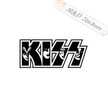 2x KISS Logo Vinyl Decal Sticker Different colors & size for Cars/Bike