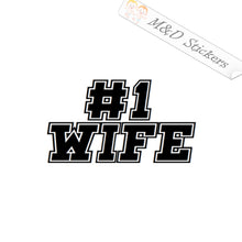 2x Number 1 Wife Vinyl Decal Sticker Different colors & size for Cars/Bikes/Windows