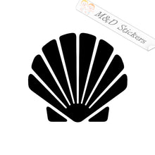 2x Seashell Vinyl Decal Sticker Different colors & size for Cars/Bikes/Windows