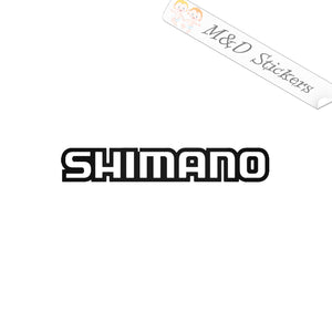 2x Shimano Logo Vinyl Decal Sticker Different colors & size for Cars/Bikes/Windows