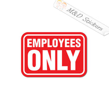 2x Employees only sign Vinyl Decal Sticker Different colors & size for Cars/Bikes/Windows