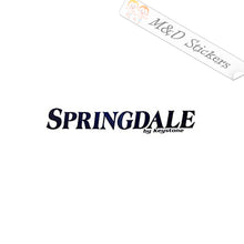 2x Springdale by Keystone Vinyl Decal Sticker Different colors & size for Cars/Bikes/Windows