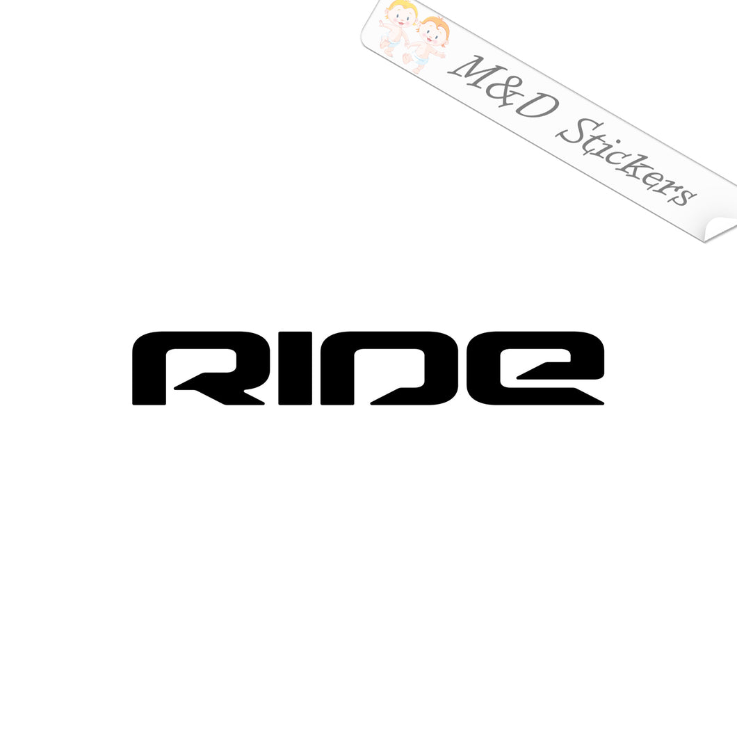2x Ride Snowboards Logo Vinyl Decal Sticker Different colors & size for Cars/Bikes/Windows