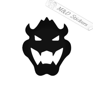 2x Super Mario Bowser Video Game Vinyl Decal Sticker Different colors & size for Cars/Bikes/Windows