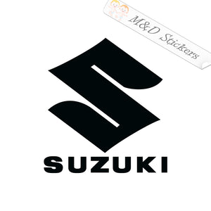 2x Suzuki Logo Vinyl Decal Sticker Different colors & size for Cars/Bikes/Windows