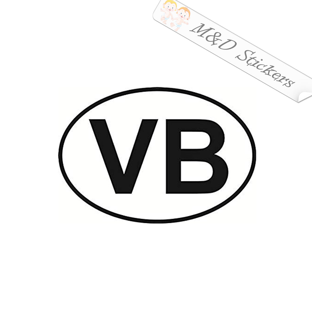 2x Virginia Beach Eurostyle bumper sticker Vinyl Decal Sticker Different colors & size for Cars/Bikes/Windows
