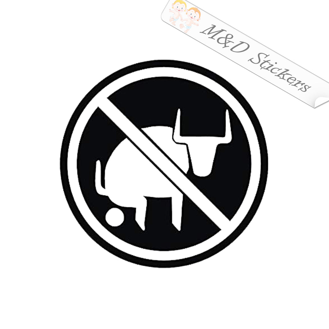 2x No bullshit Vinyl Decal Sticker Different colors & size for Cars/Bikes/Windows