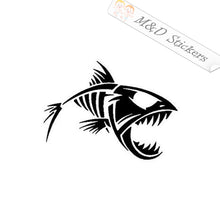 2x Angry fish Decal Sticker Different colors & size for Cars/Bikes/Windows