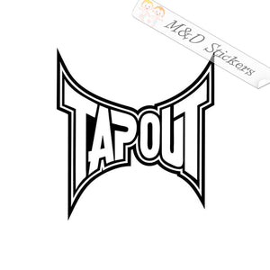 2x Tapout Logo Vinyl Decal Sticker Different colors & size for Cars/Bikes/Windows