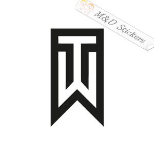 2x Tiger Woods Golf Logo Vinyl Decal Sticker Different colors & size for Cars/Bikes/Windows