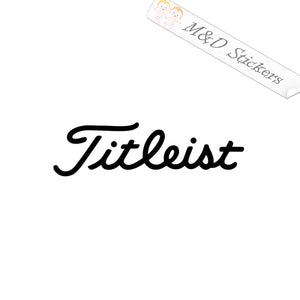 2x Titleist Apparel Golf Logo Vinyl Decal Sticker Different colors & size for Cars/Bikes/Windows