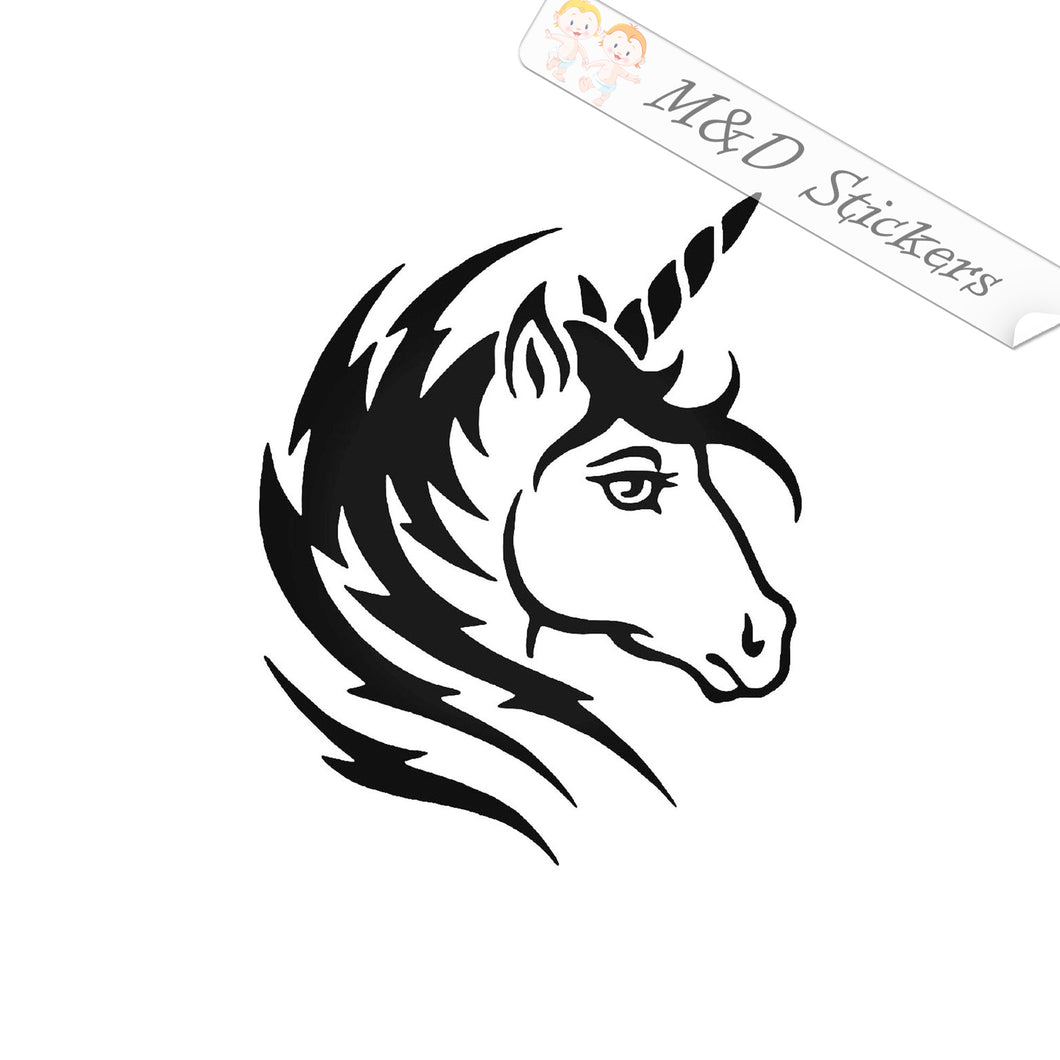 2x Unicorn Vinyl Decal Sticker Different colors & size for Cars/Bikes/Windows