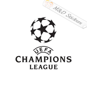 2x Champions League Soccer Vinyl Decal Sticker Different colors & size for Cars/Bikes/Windows