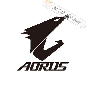 2x Aorus Logo Vinyl Decal Sticker Different colors & size for Cars/Bikes/Windows
