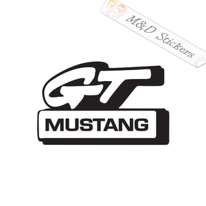 2x GT Mustang Vinyl Decal Sticker Different colors & size for Cars/Bikes/Windows