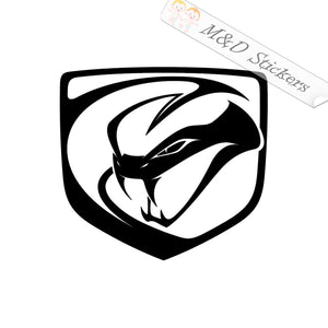 2x Dodge Viper Logo Vinyl Decal Sticker Different colors & size for Cars/Bikes/Windows