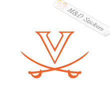 2x Virginia Cavaliers UVA Logo Vinyl Decal Sticker Different colors & size for Cars/Bikes/Windows