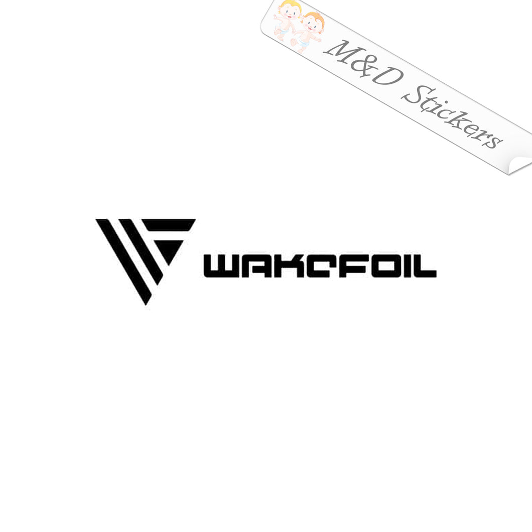 2x Wakefoil Surf Hydrofoil Logo Vinyl Decal Sticker Different colors & size for Cars/Bikes/Windows