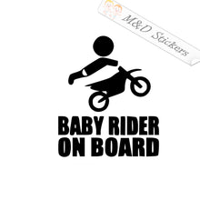 2x Baby Rider on board Vinyl Decal Sticker Different colors & size for Cars/Bikes/Windows