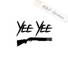 2x Yee Yee gun Vinyl Decal Sticker Different colors & size for Cars/Bikes/Windows