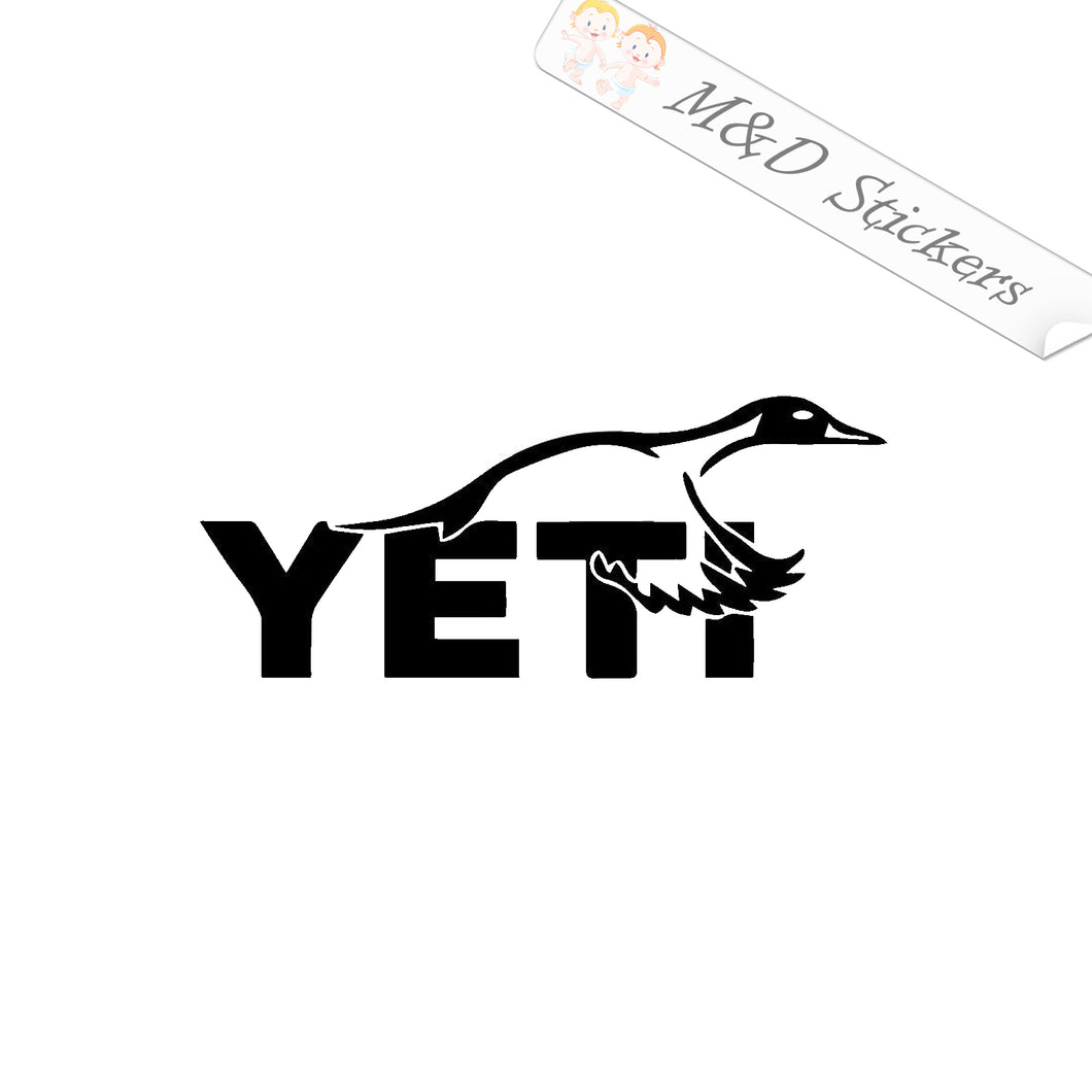2x Yeti Duck Vinyl Decal Sticker Different colors & size for Cars/Bikes/Windows