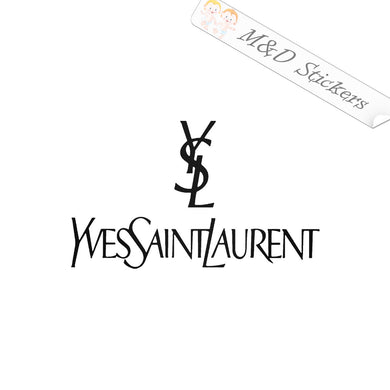 2x Yves Saint Laurent YSL Logo Vinyl Decal Sticker Different colors & size for Cars/Bikes/Windows